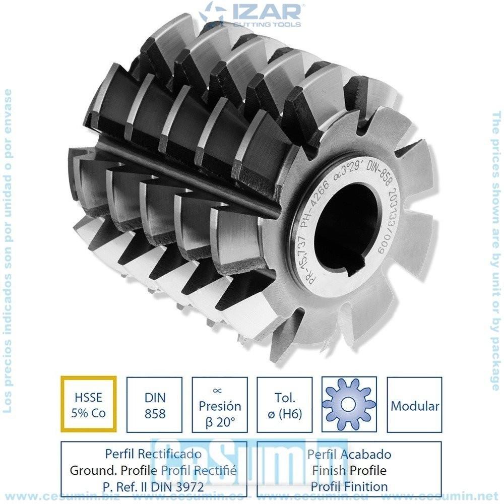 Izar 9255 Fresa rotativo cil/índrico 9255 12mm 6 diente