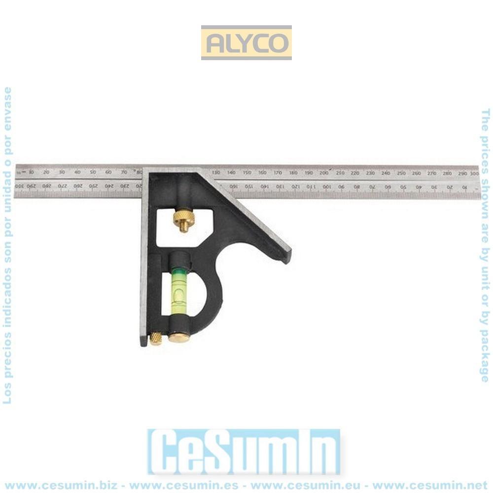 ALYCO 197415 - Escuadra multifuncion 10 en 1 de 300 mm