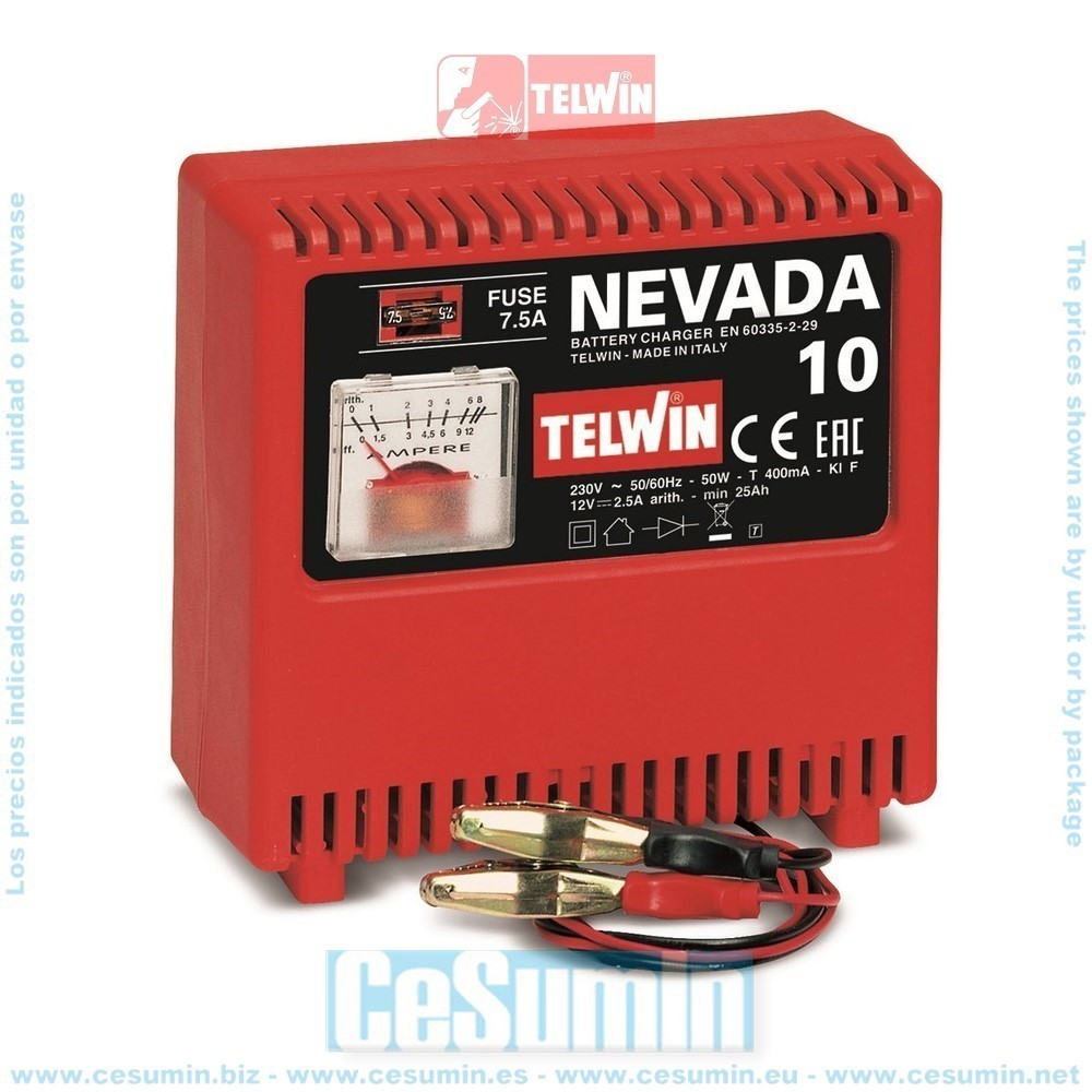 TELWIN TE-807022 - Cargador de baterias nevada 10 230v