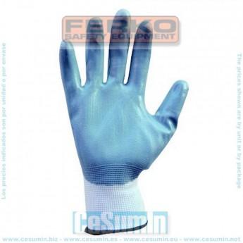 FERKO F-057C-9 - Guante nylon recubierto de nitrilo gris talla 9