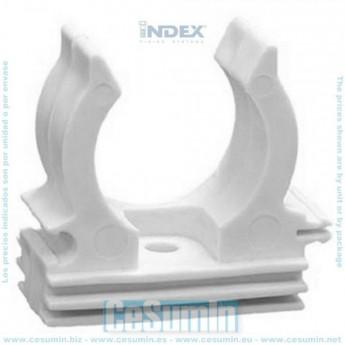 INDEX ABPRG20 - Abrazadera plastica de presion con pre-rosca M-6 blanca 20-22
