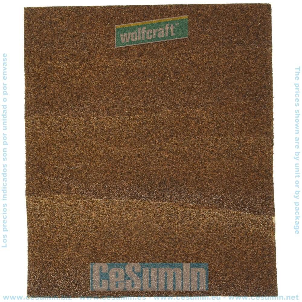 WOLFCRAFT 2850000 - Pliego papel de lija estandar grano 40 sueltos 230 x 280 mm