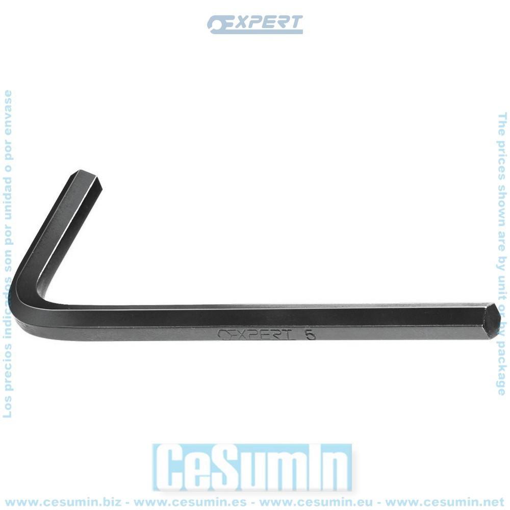 EXPERT E113914 - Llave macho 6 caras corta 2,5mm
