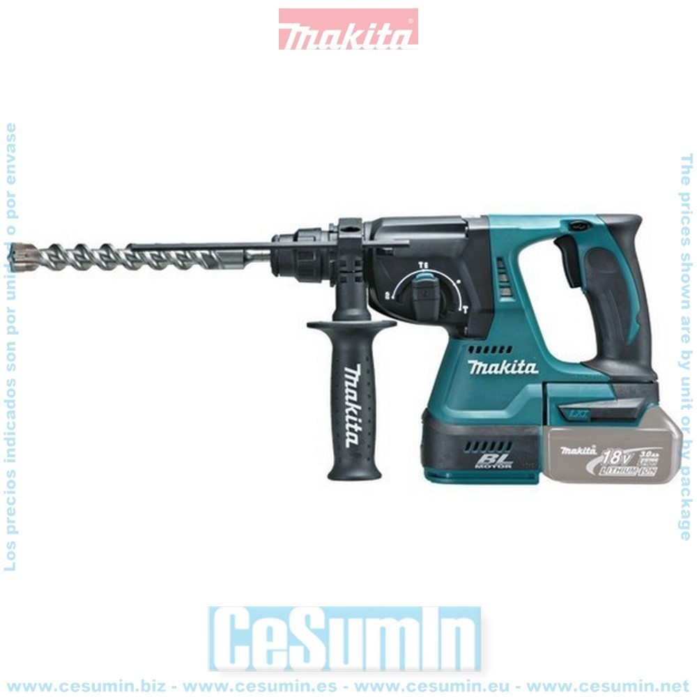 MAKITA DHR242Z - Martillo ligero 18v litio-ion diametro broca max de 24mm motor bl sin escobillas solo maquina