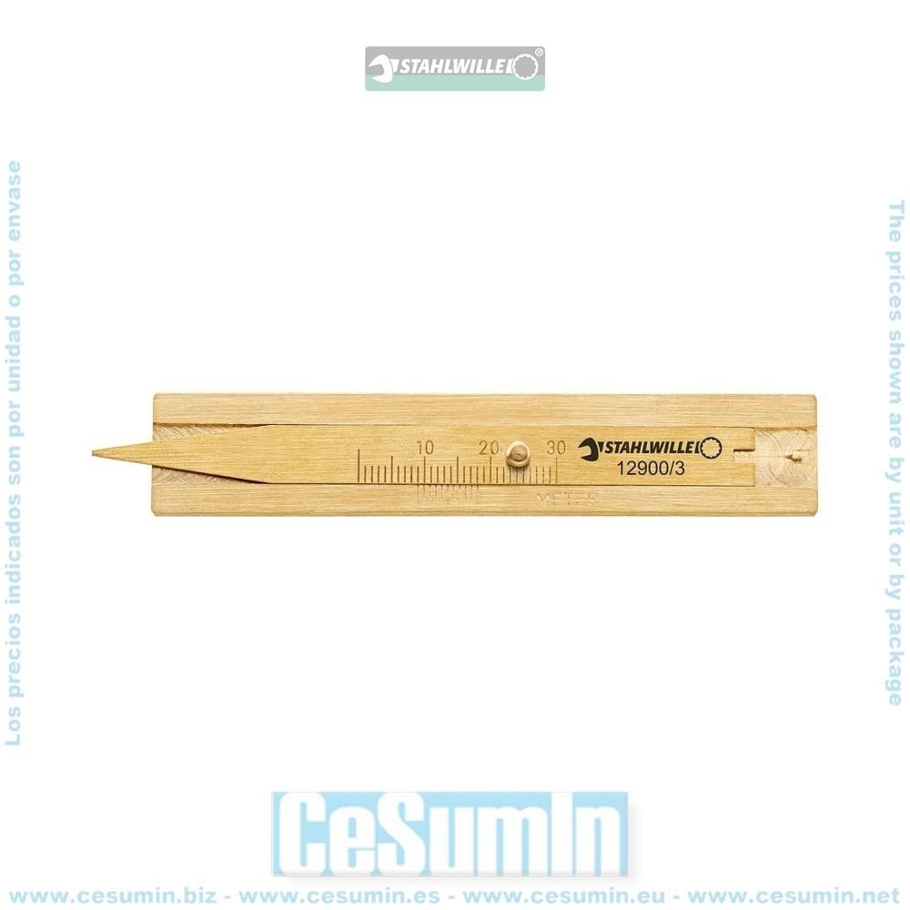 STAHLWILLE 77371004 Calibre de taller para profundidad de neumáticos 12900/3