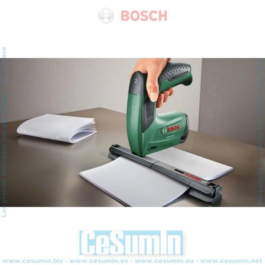 Bosch DIY Tools PTK 3.6 LI Grapadora a bater/ía Office Set con grapadora para papel y grapadora para folletos bater/ía integrada, 3,6 V, set de grapadoras, 30 impactos por minuto, en caja de metal