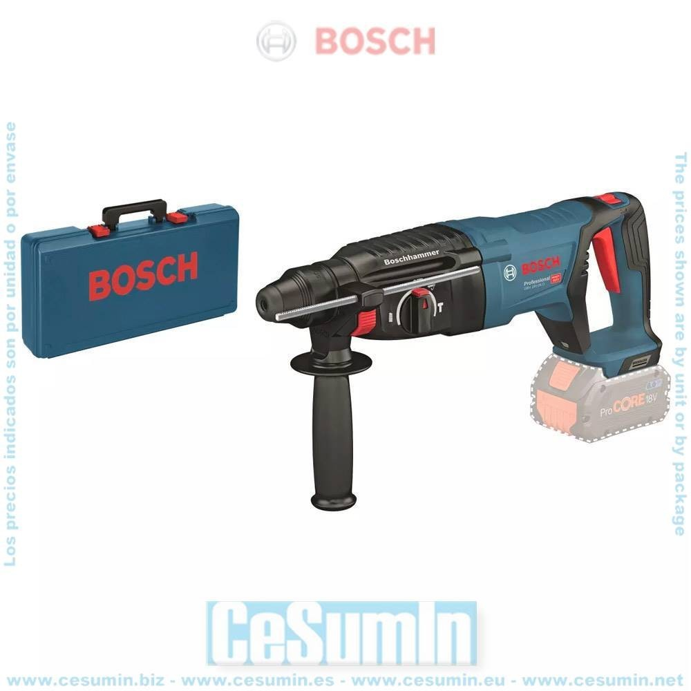 Bosch 0611916000 Martillo perforador a batería GBH 18V-26D SDS Plus + maletín sin batería ni cargador