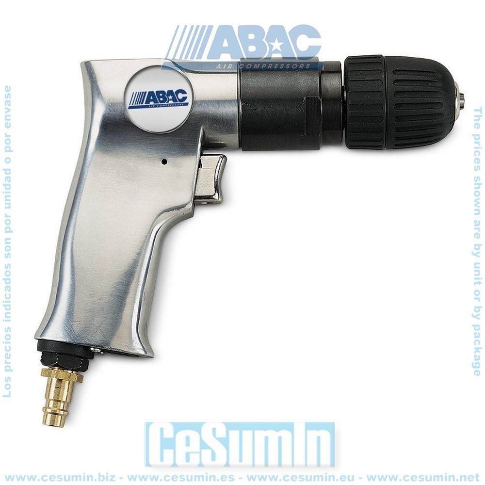 Taladro reversible con consumo de aire de 130 l/min presion de trabajo de 6 bares a 1400 rpm - ABAC - Ref: 8973005901
